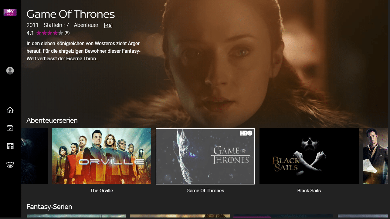 Game of Thrones Sky CH
